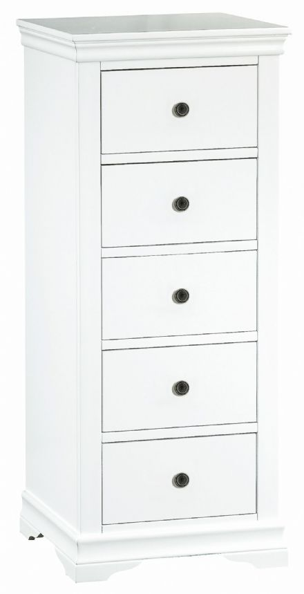 Stratford White Painted 5 Drawer Wellington